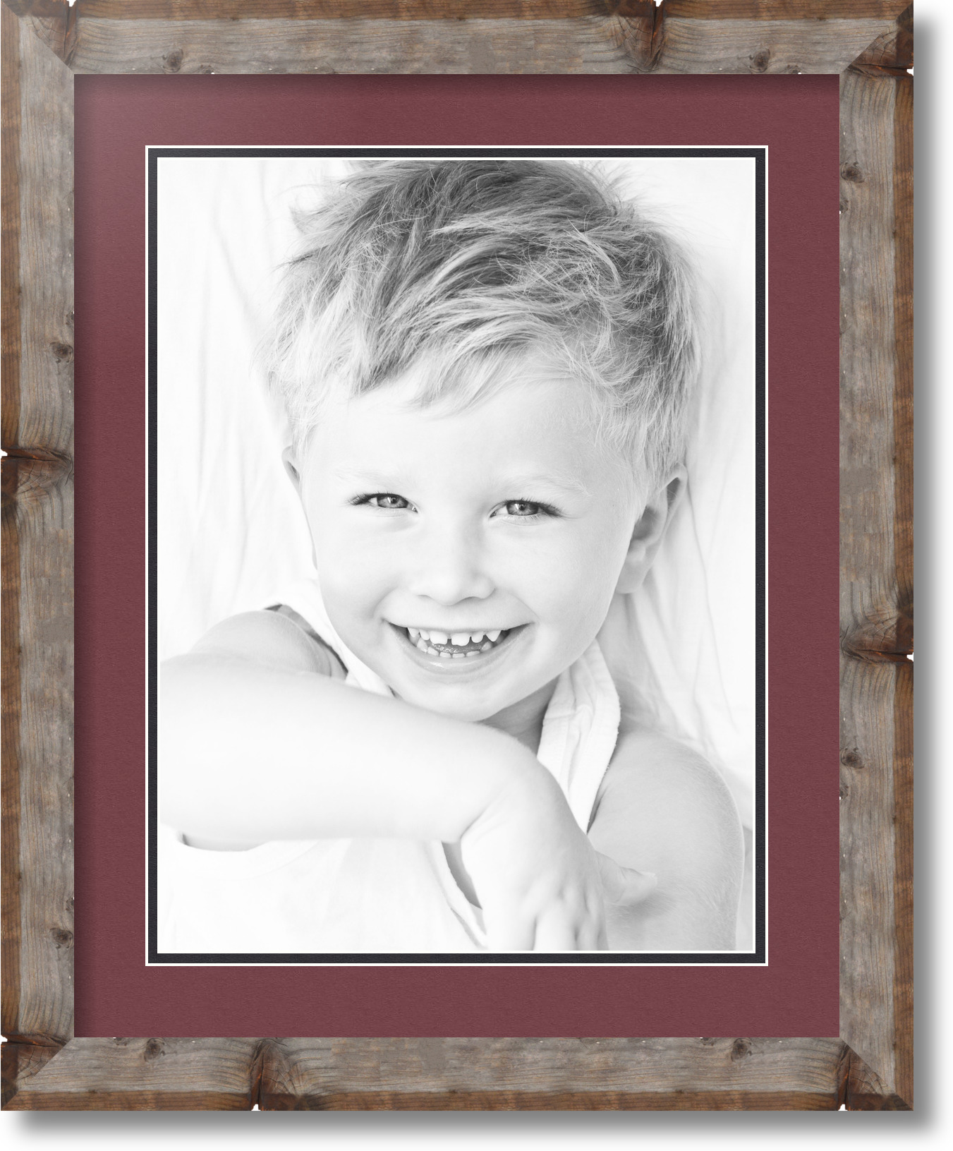 """12x16 Opening ArtToFrames Matted 16x20 Natural Picture Frame with 2/"""" Double Mat"""