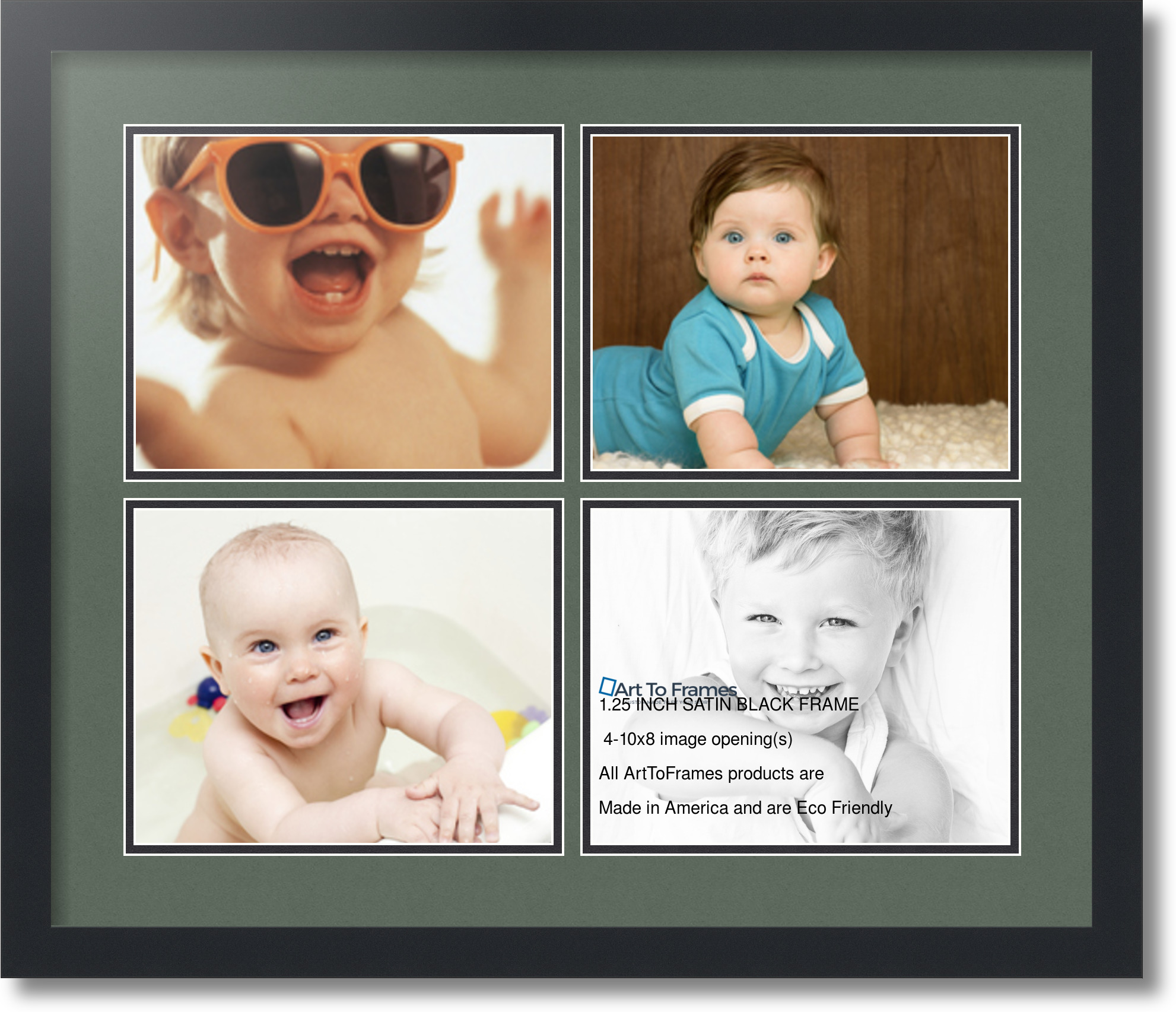 Arttoframes Collage Mat Picture Photo Frame 4 8x10