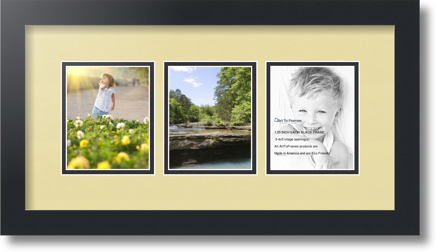 ArtToFrames Collage Mat Picture Photo Frame 3 4x5\