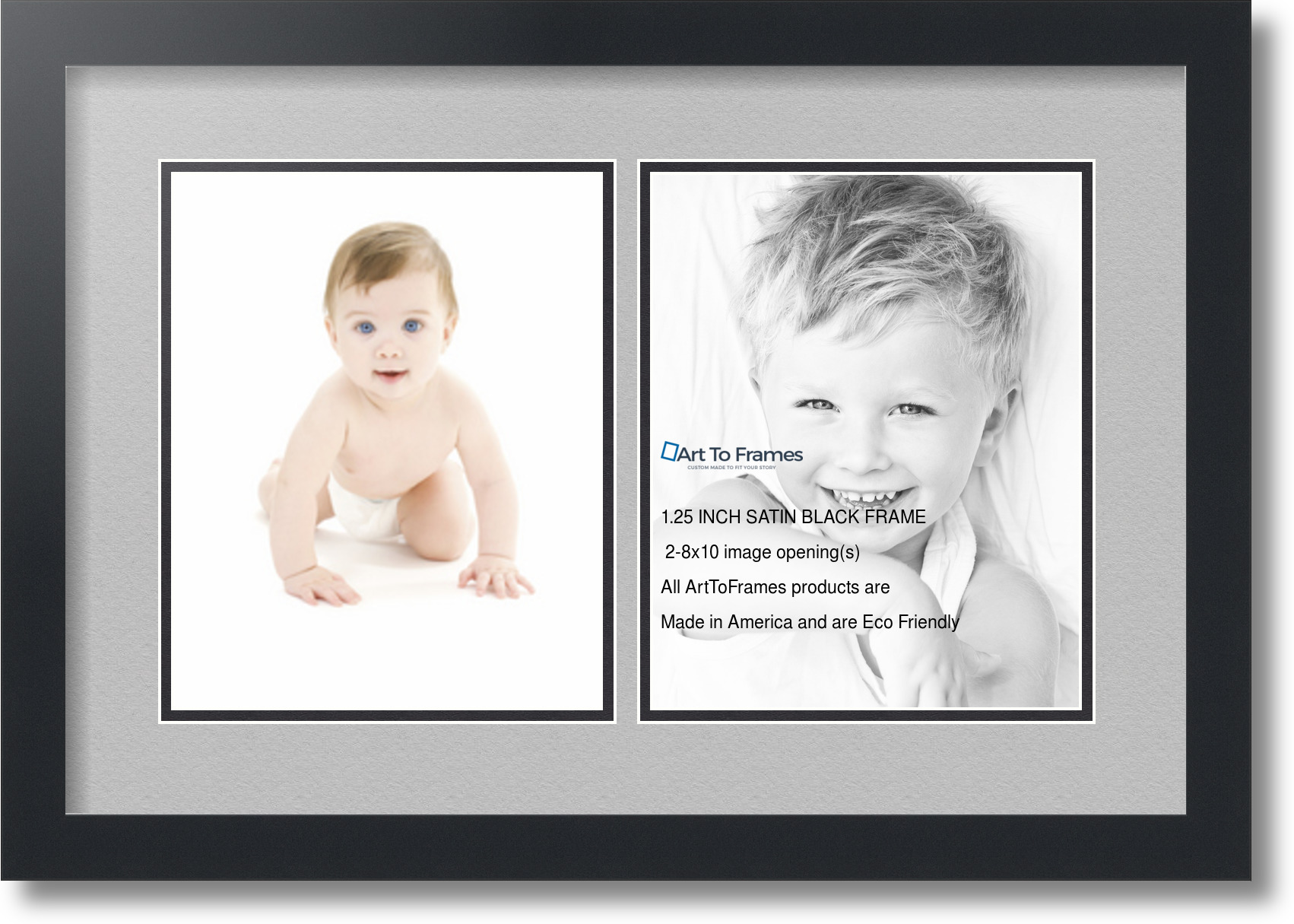 ArtToFrames Collage Mat Picture Photo Frame 2 8x10\