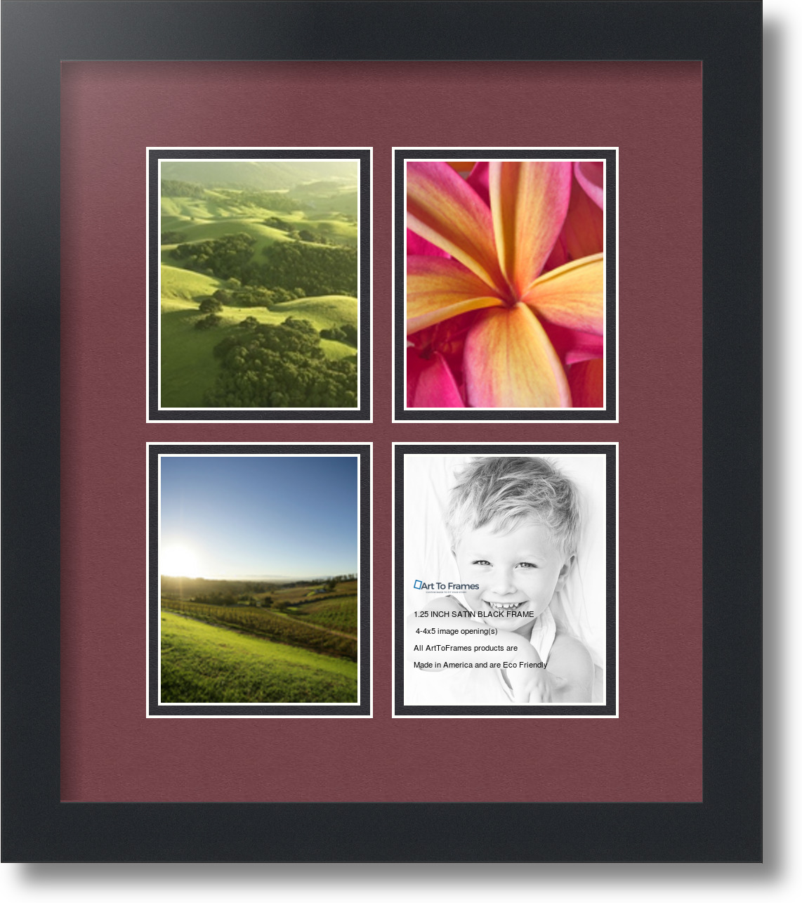 ArtToFrames Collage Mat Picture Photo Frame - 4 4x5\