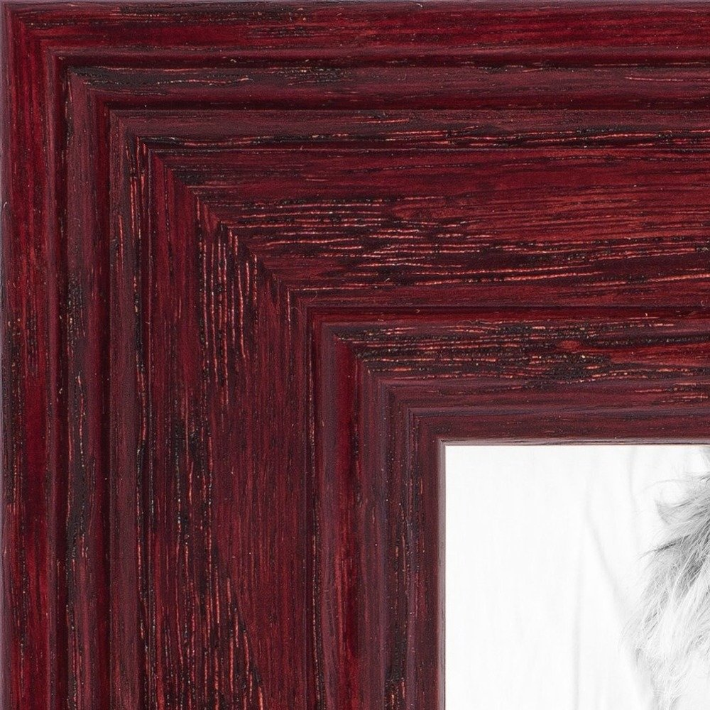 """ArtToFrames Custom Picture Poster Frame Red Cherry Stain 1.5/"""" Wide Wood"""