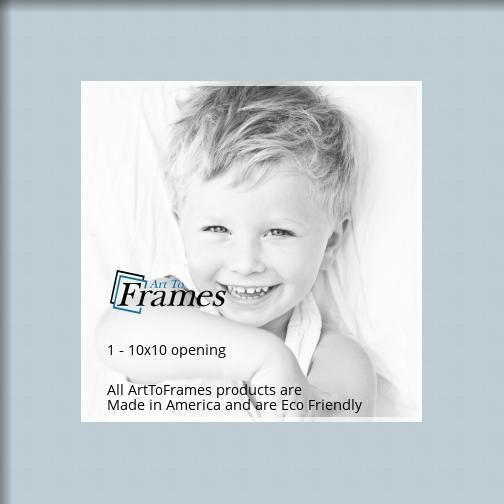 Arttoframes Custom Baby Blue Picture Photo Frame Mat