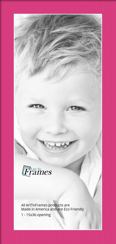 Arttoframes Custom Pink Tulip Picture Photo Frame Mat