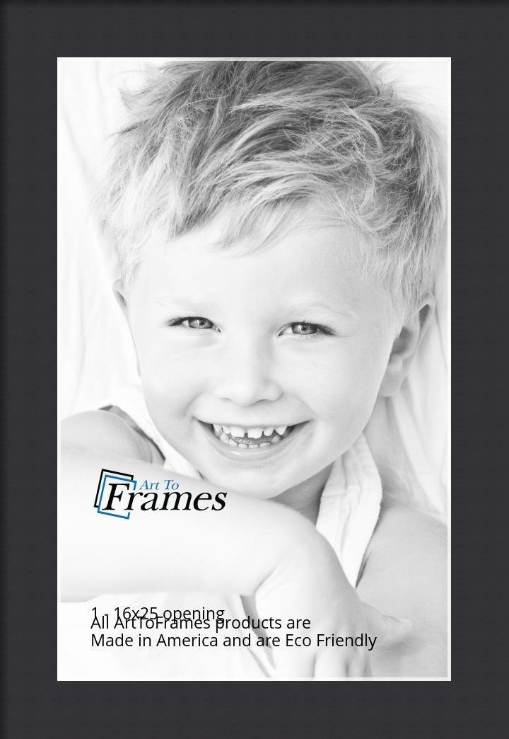Arttoframes Custom Black Picture Photo Frame Mat Matting