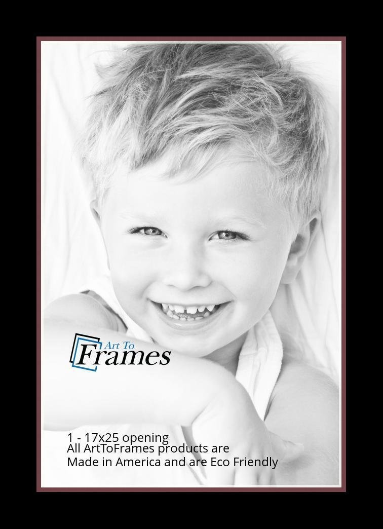 Arttoframes Custom Red Maple Leaf Picture Photo Frame Mat