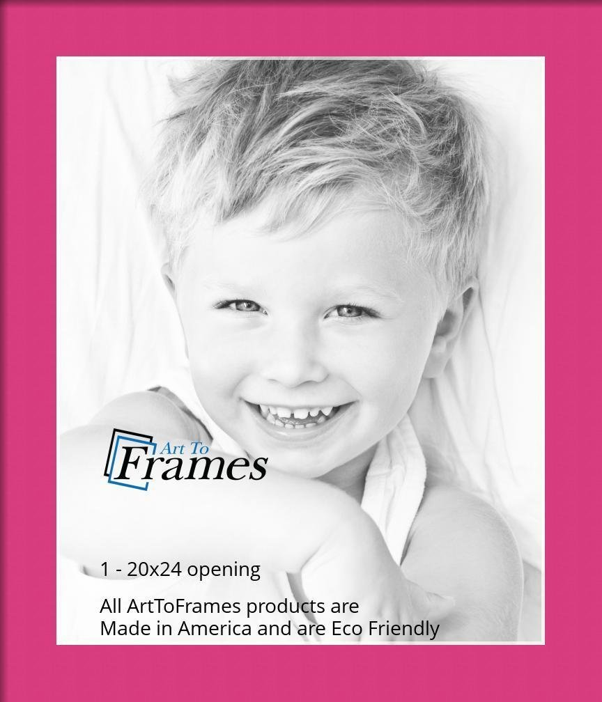 ArtToFrames Custom Pink Tulip Picture Photo Frame Mat Matting Board ...