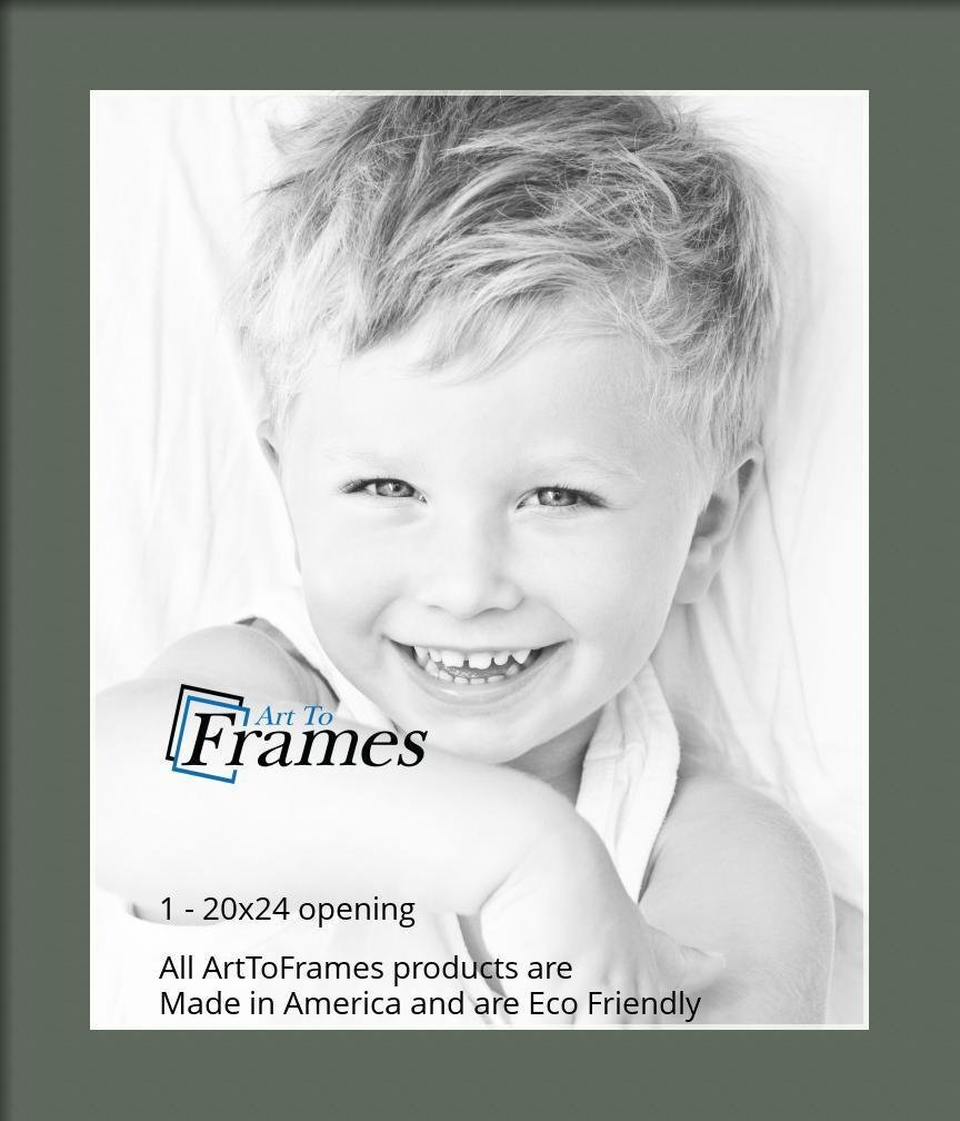 Arttoframes Custom Forest Green Picture Photo Frame Mat
