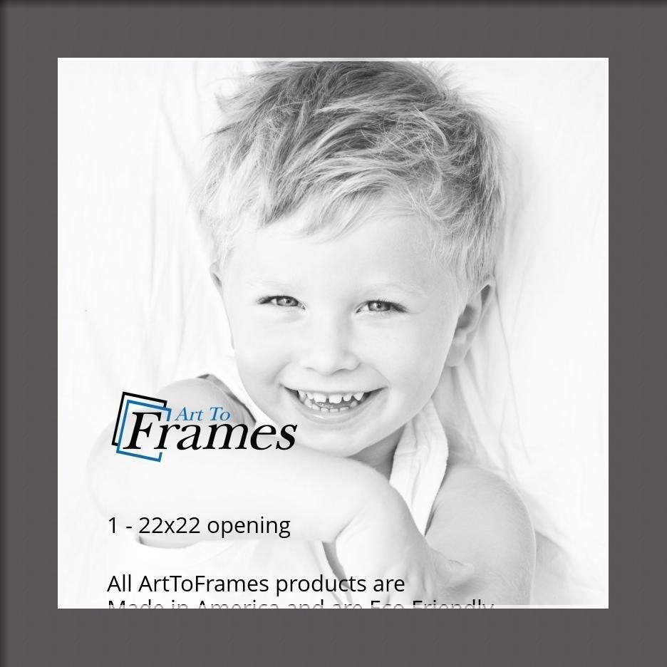 ArtToFrames-Custom-Black-Charcoal-Picture-Photo-Frame-Mat-Matting-Board-LG thumbnail 128