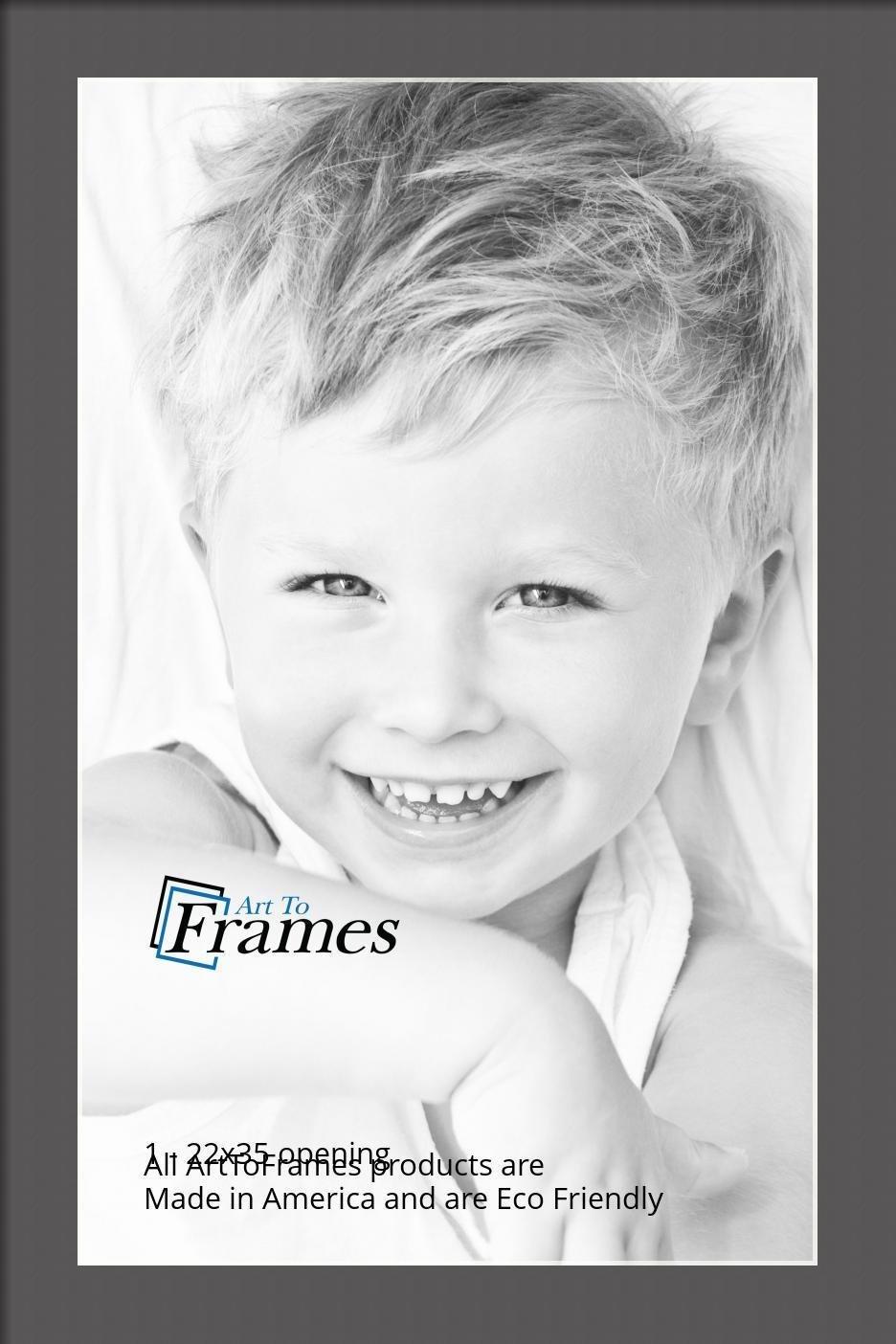 ArtToFrames-Custom-Black-Charcoal-Picture-Photo-Frame-Mat-Matting-Board-LG thumbnail 140