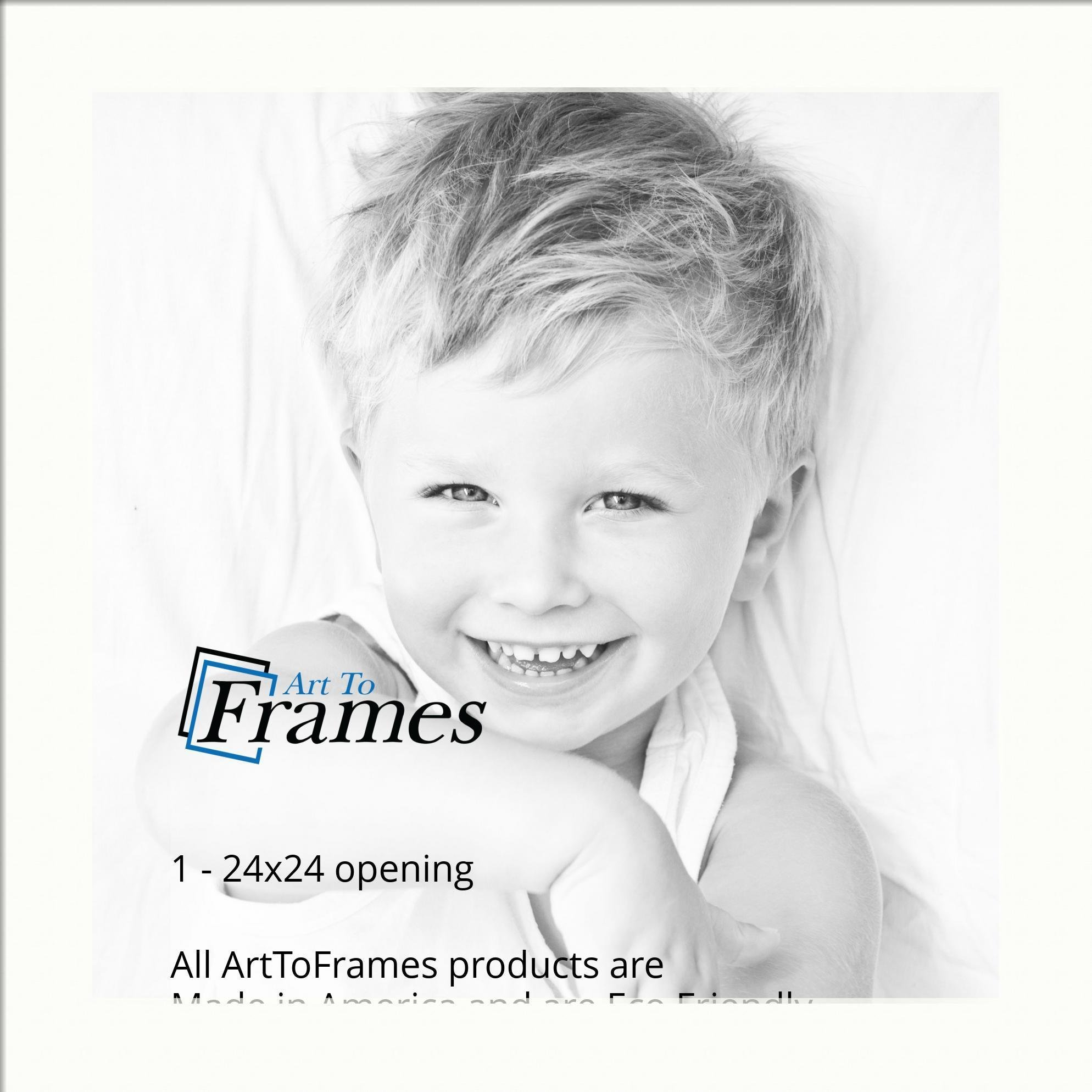 ArtToFrames Custom Fabric White Picture Photo Frame Mat Matting ...