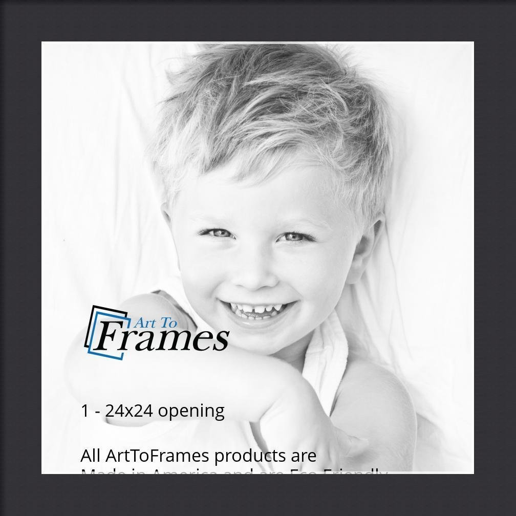 Arttoframes Custom Black Picture Photo Frame Mat Matting