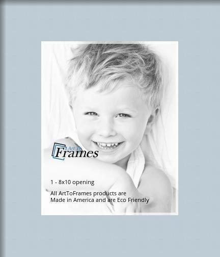 Arttoframes Custom Baby Blue Picture Photo Frame Mat