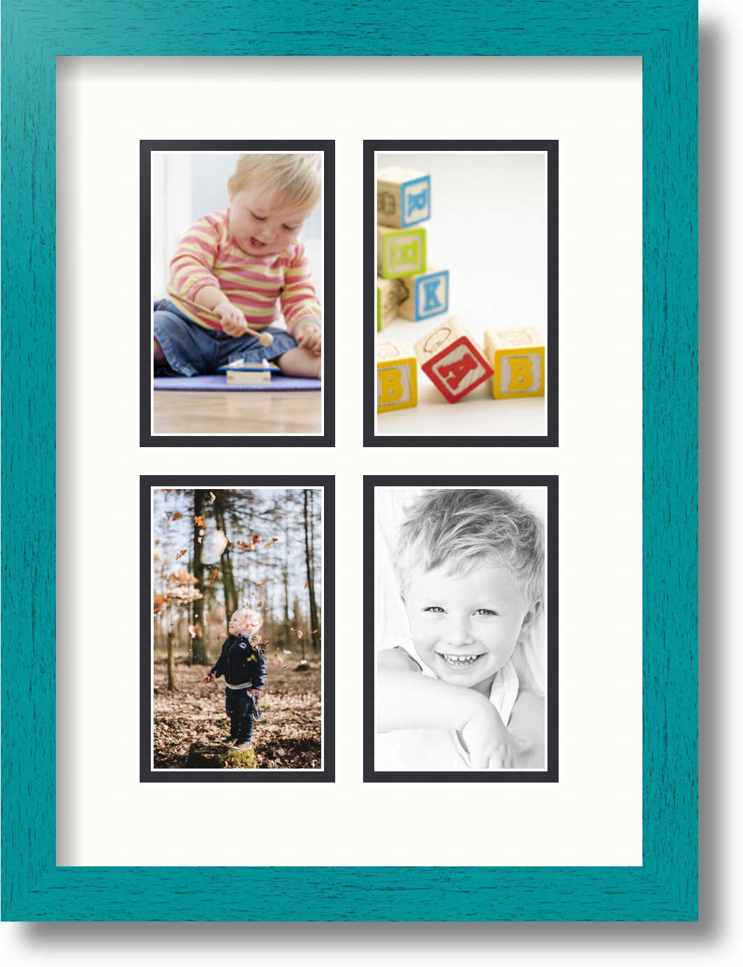 ArtToFrames Collage Mat Picture Photo Frame with 4 3x5\