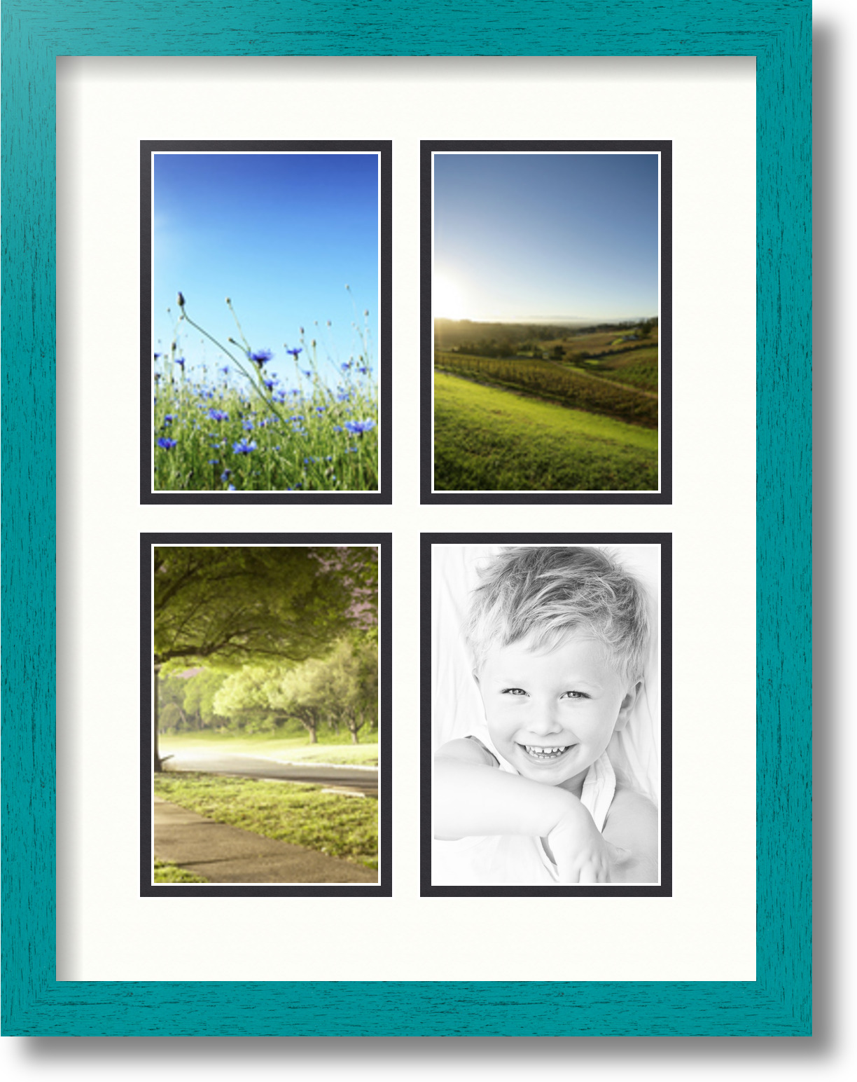 ArtToFrames Collage Mat Picture Photo Frame with 4 4x6\