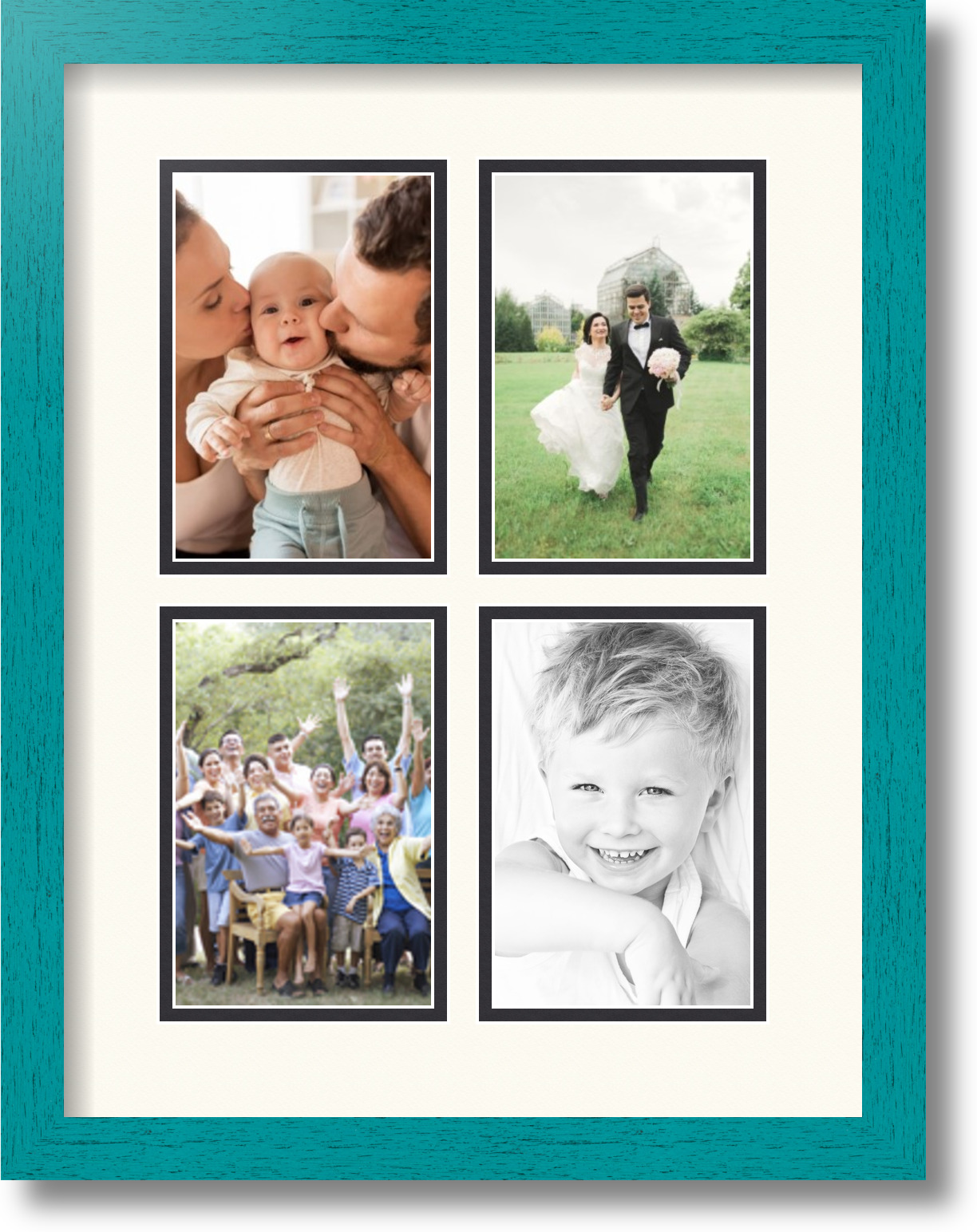 Old Fashioned Picture Frames With 6 4x6 Openings Picture Collection ...