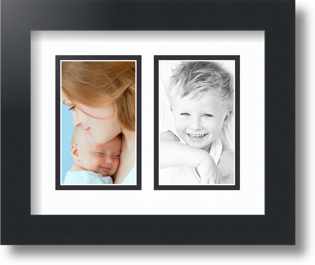Arttoframes Collage Mat Picture Photo Frame 2 3x5 Openings In Satin