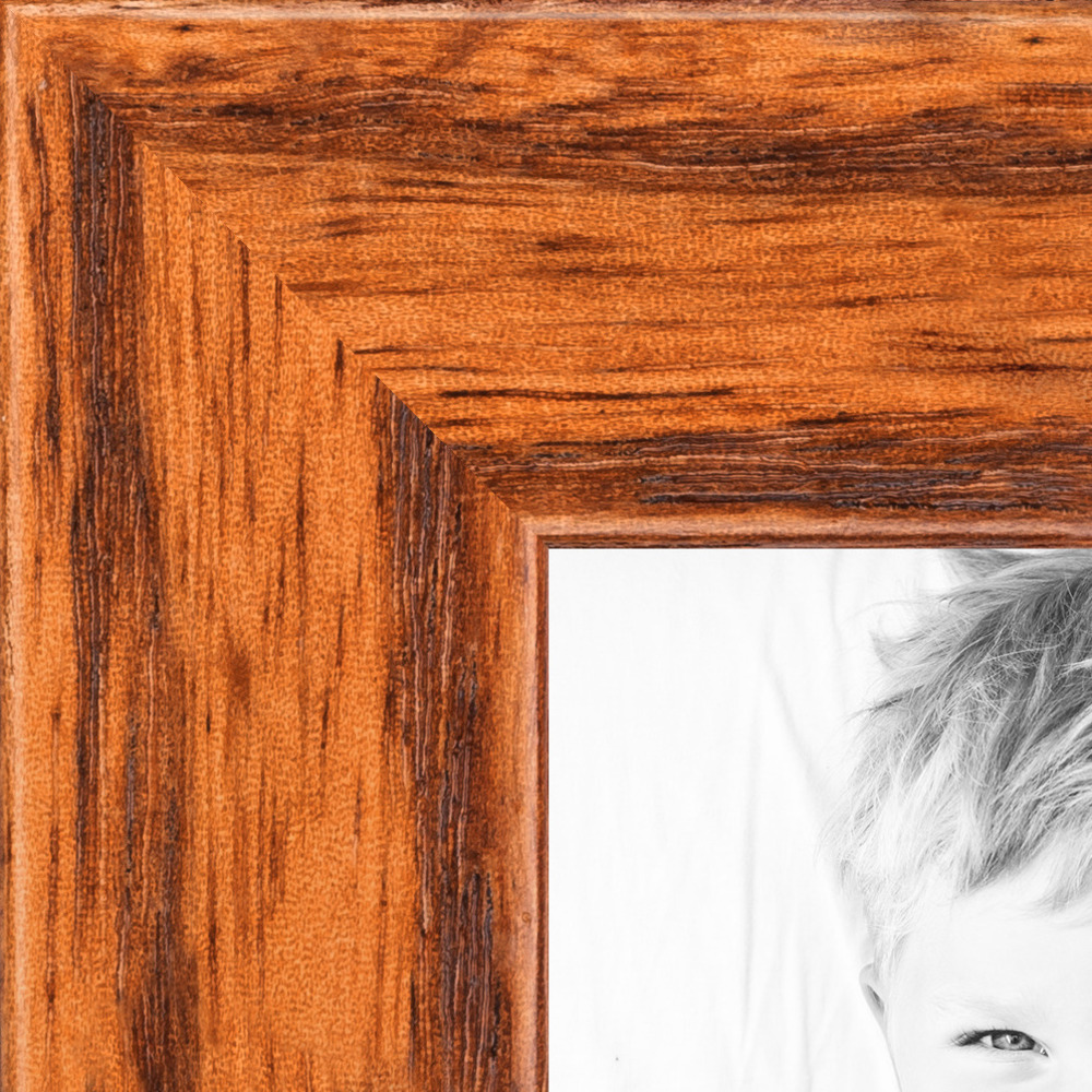 "ArtToFrames Picture Frame Custom .75"" Brown Honey on Red Oak"