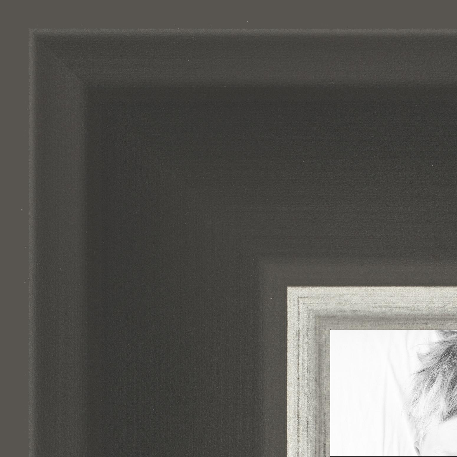 "ArtToFrames 2"" Custom Poster Frame  Black w Silver Wide 4693"
