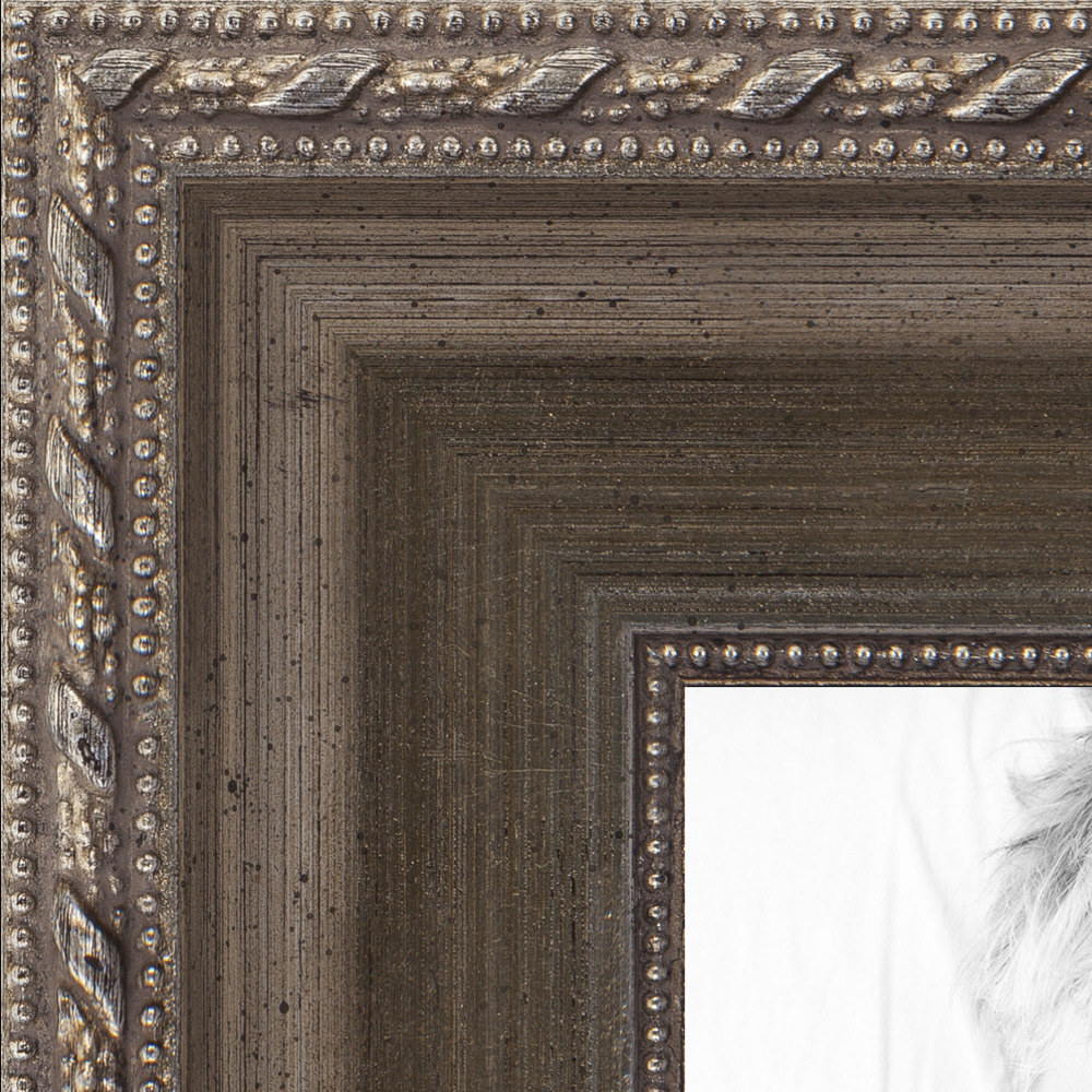 ArtToFrames 1.5 Inch Muted Silver Wood Picture Poster Frame