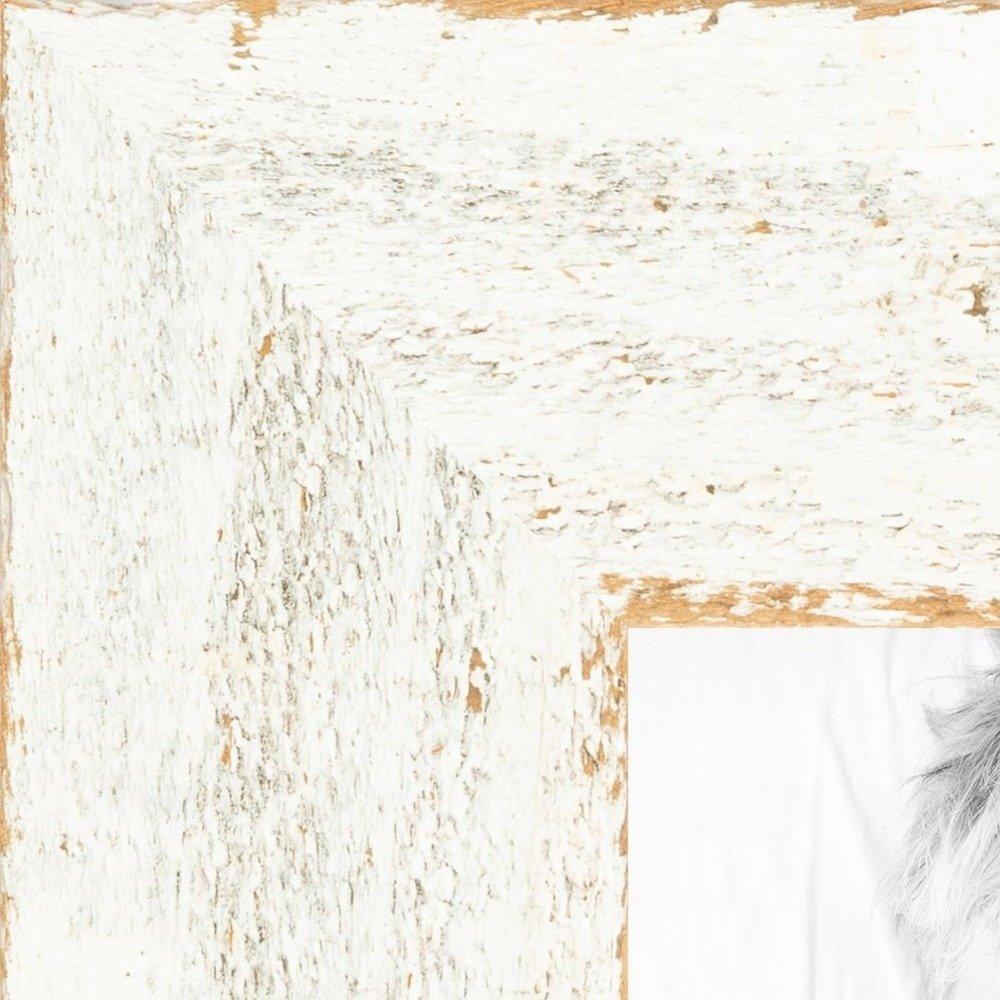 "ArtToFrames Picture Frame Custom 1.5""  White Reclaimed Wood"
