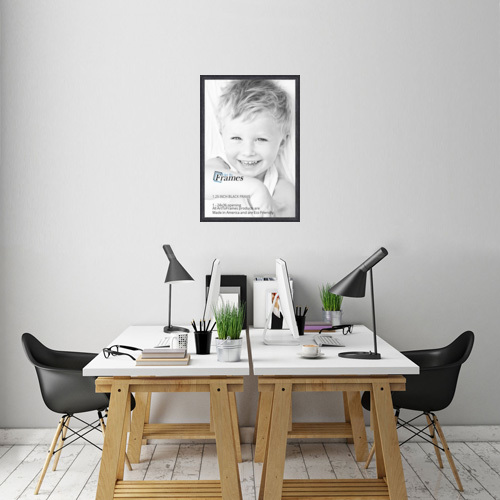 ArtToFrames 1.25 Inch Black Stain on Oak Wood Picture Poster Frame ...