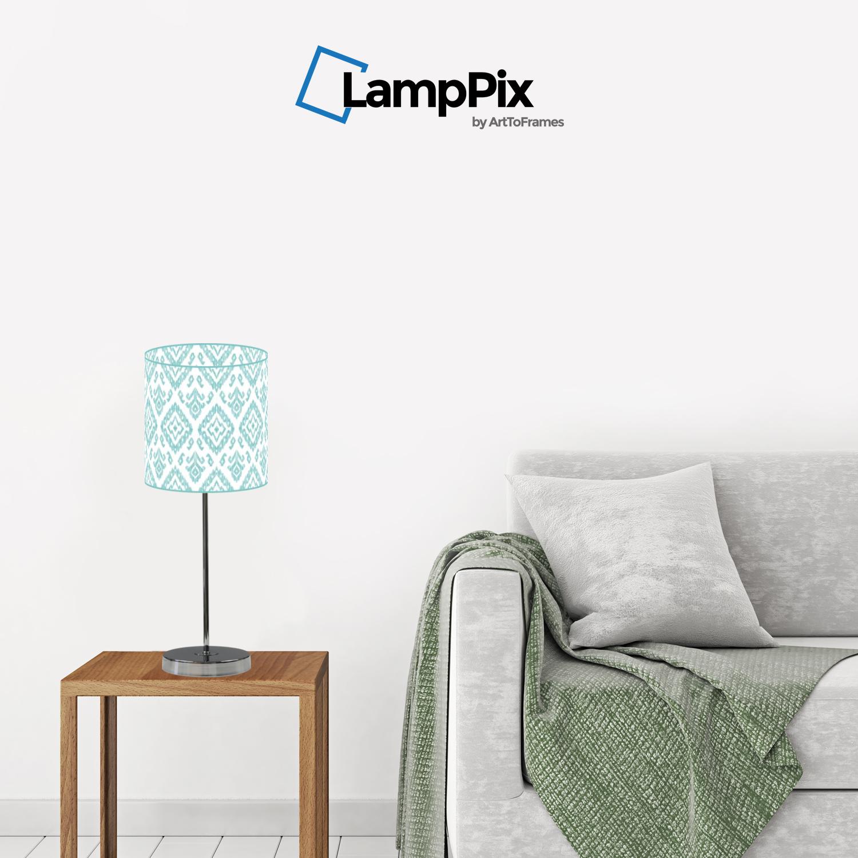 "ArtToFrames 10/"" Lamp Shade Geometric Designs Acrylic Uno or Spider Fitting 58"